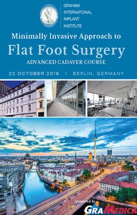 Tratament chirurgical picior plat curs avansati Berlin
